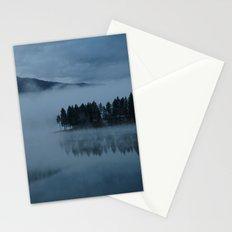 Foggy lake morning Stationery Cards