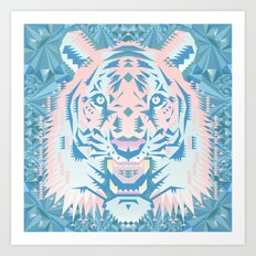 Pastel Quartz Tiger Art Print