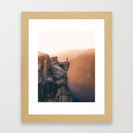 On the cliff, Yosemite Framed Art Print