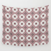 baroque Wall Tapestries featuring red baroque pattern by HeidiVaught