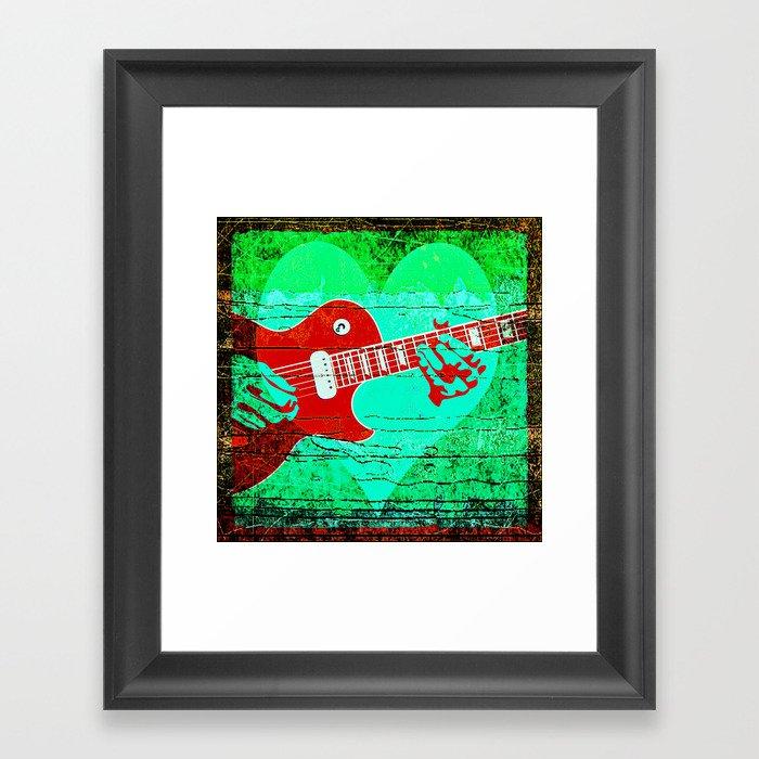 Guitar Love Framed Art Print