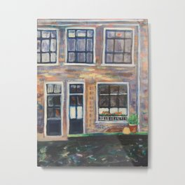 Canal Delft, Holland Metal Print