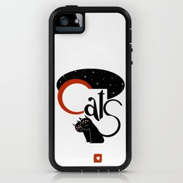 black CATS! iPhone Case