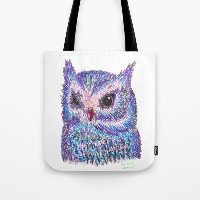Tropical Owl Tote Bag