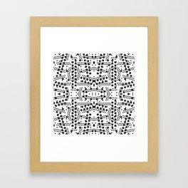 black square elements Framed Art Print