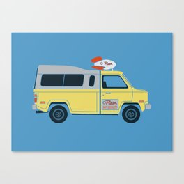 Galactic Pizza Van Canvas Print