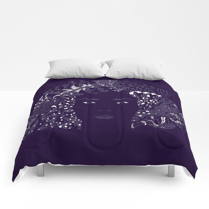 Purple Night Comforters