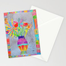 Flower Vase | Kids Painting | 3D Collage Stationery Cards