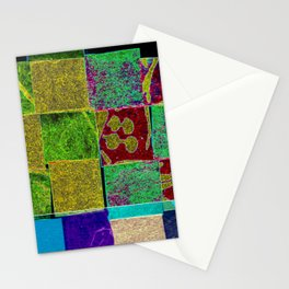 Textured squares Stationery Cards