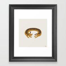 Sprinkled Dognut Framed Art Print