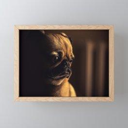 Cute Pug Dog Framed Mini Art Print