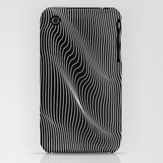 Minimal curves black iPhone (3g, 3gs) Slim Case
