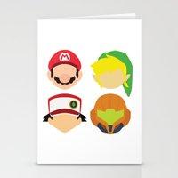 nintendo Stationery Cards featuring Nintendo Greats by MoleFole