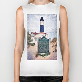 """Big Sable Point Lighthouse"" Biker Tank"