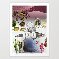 100 Art Print