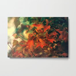 Fall Blanket Of Leaves Metal Print