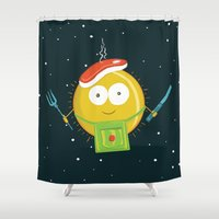 chef Shower Curtains featuring Sun Chef by alonsomi