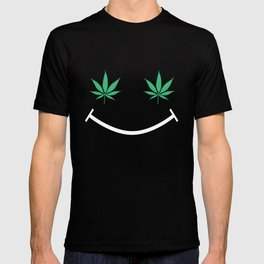 Happy Weed Smiley Face T-shirt