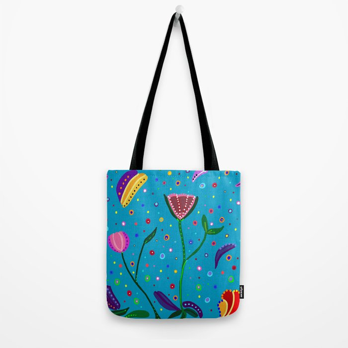 Flowers at Dusk, drawing Tote Bag