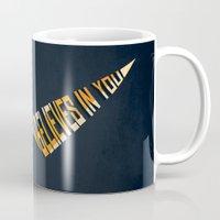gurren lagann Mugs featuring Believe In Me Who Believes In You by 5eth