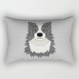 Border Collie - blue merle Rectangular Pillow
