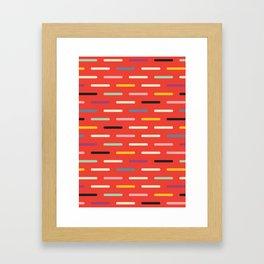 Modern Scandinavian Dash Red Framed Art Print