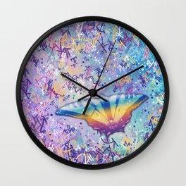 Vibrant Little Butterfly Wall Clock