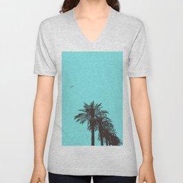 me love palm tree Unisex V-Neck