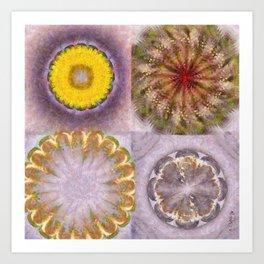 Paligorskite Being Flower  ID:16165-060146-91170 Art Print