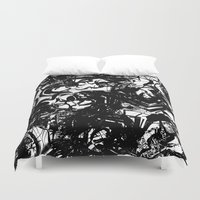 war Duvet Covers featuring war by BUBUBABA