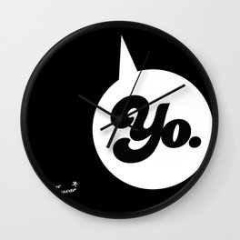 """YO."" Wall Clock"