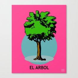 El Arbol Mexican Loteria Card Canvas Print