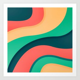 The river, abstract painting Art Print