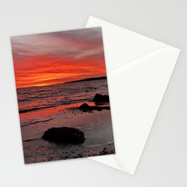 Fiery Sunset in Hyannis Port Stationery Cards