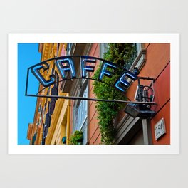 Caffe sign Art Print