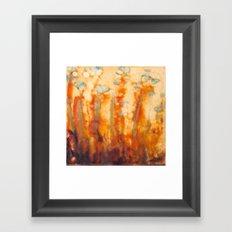 Fire Lillies Framed Art Print