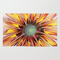 sunflower Area & Throw Rugs featuring Sunflower by Klara Acel