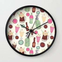 Soda Jerk Pattern Wall Clock