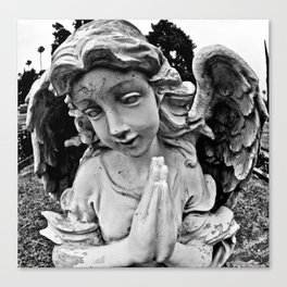 Cracked angel Canvas Print