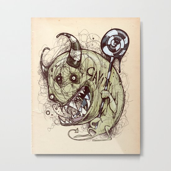 Don't forget to floss Metal Print