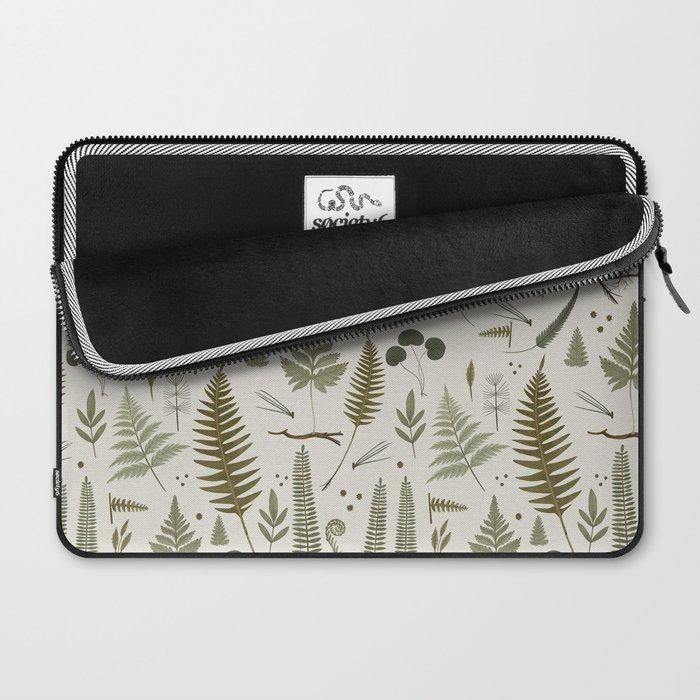 fern pattern white Laptop Sleeve