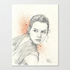 REY AWAKENS Canvas Print