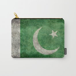 Pakistani flag, vintage retro style Carry-All Pouch