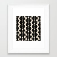 navajo Framed Art Prints featuring NAVAJO by bows & arrows
