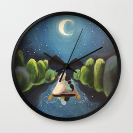 Aladdin and Jasmine Wall Clock