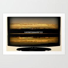 My work on TV Art Print