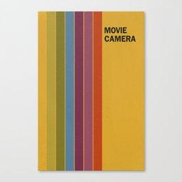 Retro Movie Camera Color Palette Canvas Print