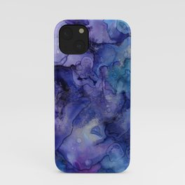 Abstract Watercolor and Ink iPhone Case