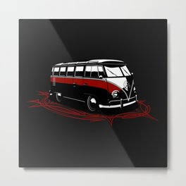 23 Window Bus Metal Print