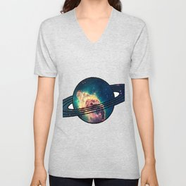 Saturn´s Space Unisex V-Neck